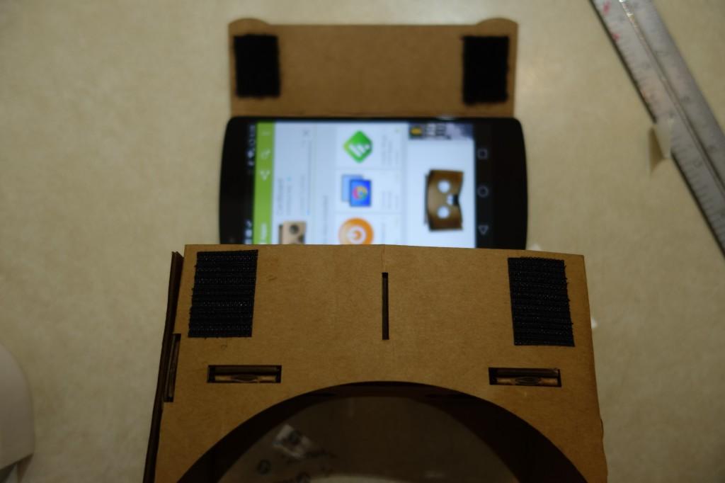 Downloading the Cardboard app